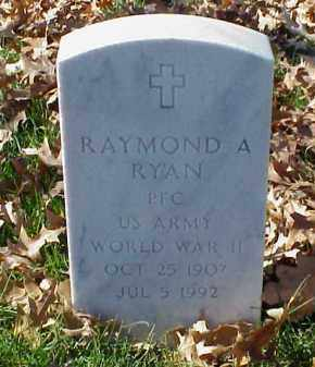 RYAN (VETERAN WWII), RAYMOND A - Pulaski County, Arkansas | RAYMOND A RYAN (VETERAN WWII) - Arkansas Gravestone Photos
