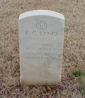 RYNES  (VETERAN WWII), K C - Pulaski County, Arkansas | K C RYNES  (VETERAN WWII) - Arkansas Gravestone Photos