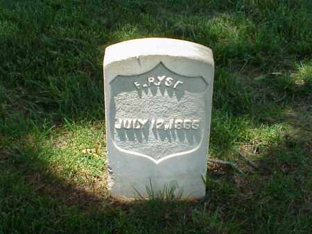RYSE (VETERAN UNION), F - Pulaski County, Arkansas | F RYSE (VETERAN UNION) - Arkansas Gravestone Photos