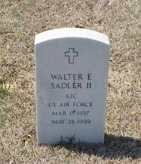 SADLER II (VETERAN), WALTER E - Pulaski County, Arkansas | WALTER E SADLER II (VETERAN) - Arkansas Gravestone Photos