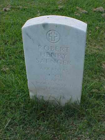 SAENGER (VETERAN 2 WARS), ROBERT HENRY - Pulaski County, Arkansas | ROBERT HENRY SAENGER (VETERAN 2 WARS) - Arkansas Gravestone Photos