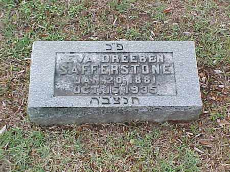 SAFFERSTONE, EVA - Pulaski County, Arkansas | EVA SAFFERSTONE - Arkansas Gravestone Photos