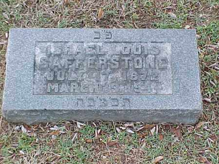 SAFFERSTONE, ISRAEL LOUIS - Pulaski County, Arkansas | ISRAEL LOUIS SAFFERSTONE - Arkansas Gravestone Photos