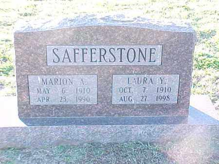 SAFFERSTONE, MARION A - Pulaski County, Arkansas | MARION A SAFFERSTONE - Arkansas Gravestone Photos