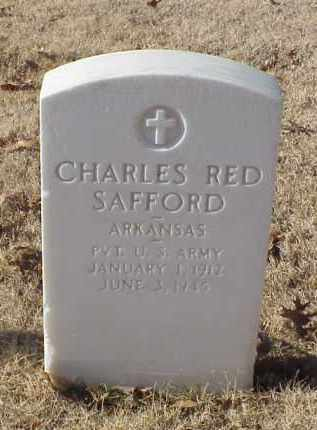 SAFFORD (VETERAN WWII), CHARLES RED - Pulaski County, Arkansas | CHARLES RED SAFFORD (VETERAN WWII) - Arkansas Gravestone Photos