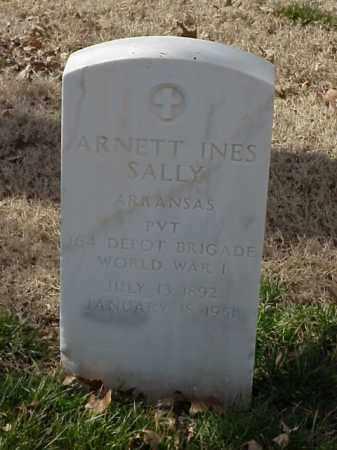 SALLY (VETERAN WWI), ARNETT INES - Pulaski County, Arkansas   ARNETT INES SALLY (VETERAN WWI) - Arkansas Gravestone Photos