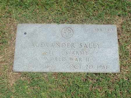 SALLY (VETERAN WWII), ALEXANDER - Pulaski County, Arkansas | ALEXANDER SALLY (VETERAN WWII) - Arkansas Gravestone Photos