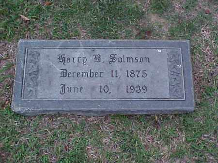 SALMSON, HARRY B - Pulaski County, Arkansas | HARRY B SALMSON - Arkansas Gravestone Photos