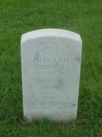 SAMMONS (VETERAN WWII), HOWARD EDWARD - Pulaski County, Arkansas | HOWARD EDWARD SAMMONS (VETERAN WWII) - Arkansas Gravestone Photos