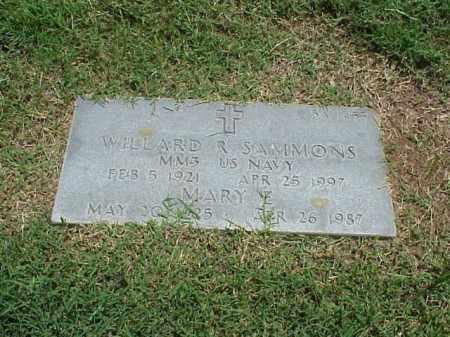 SAMMONS (VETERAN WWII), WILLARD R - Pulaski County, Arkansas | WILLARD R SAMMONS (VETERAN WWII) - Arkansas Gravestone Photos