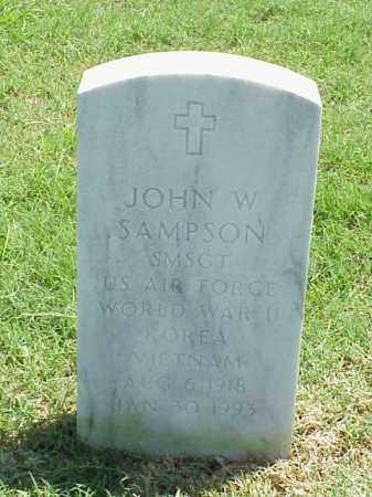 SAMPSON (VETERAN 3 WARS), JOHN W - Pulaski County, Arkansas | JOHN W SAMPSON (VETERAN 3 WARS) - Arkansas Gravestone Photos