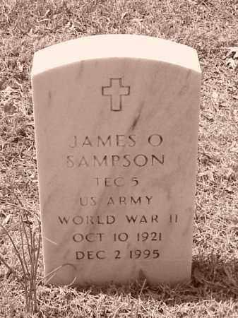 SAMPSON (VETERAN WWII), JAMES O - Pulaski County, Arkansas   JAMES O SAMPSON (VETERAN WWII) - Arkansas Gravestone Photos