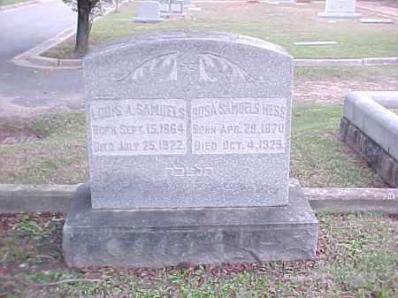 SAMUELS HESS, ROSA - Pulaski County, Arkansas | ROSA SAMUELS HESS - Arkansas Gravestone Photos