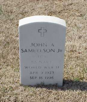 SAMUELSON, JR (VETERAN WWII), JOHN A - Pulaski County, Arkansas | JOHN A SAMUELSON, JR (VETERAN WWII) - Arkansas Gravestone Photos