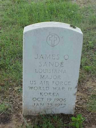 SANDE (VETERAN 2 WARS), JAMES OLAF - Pulaski County, Arkansas | JAMES OLAF SANDE (VETERAN 2 WARS) - Arkansas Gravestone Photos