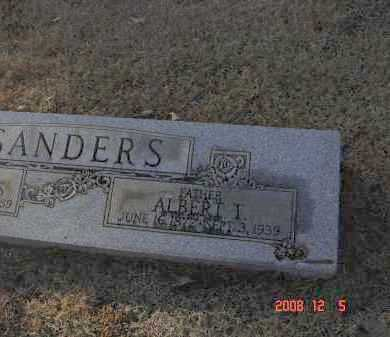 SANDERS, ALBERT T - Pulaski County, Arkansas | ALBERT T SANDERS - Arkansas Gravestone Photos