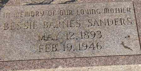 BARNES SANDERS, BESSIE - Pulaski County, Arkansas | BESSIE BARNES SANDERS - Arkansas Gravestone Photos
