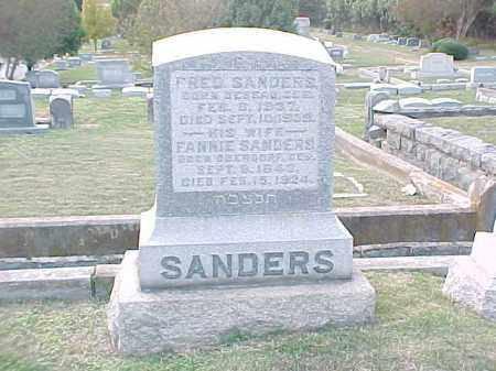 SANDERS, FANNIE - Pulaski County, Arkansas | FANNIE SANDERS - Arkansas Gravestone Photos