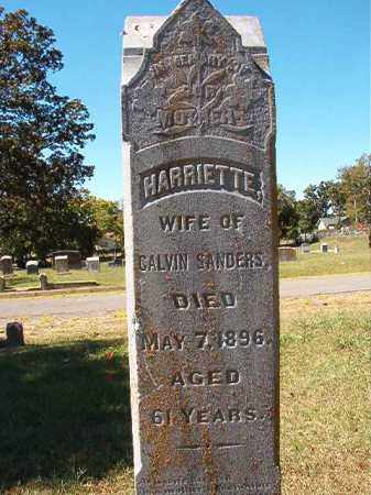 SANDERS, HARRIETTE - Pulaski County, Arkansas | HARRIETTE SANDERS - Arkansas Gravestone Photos
