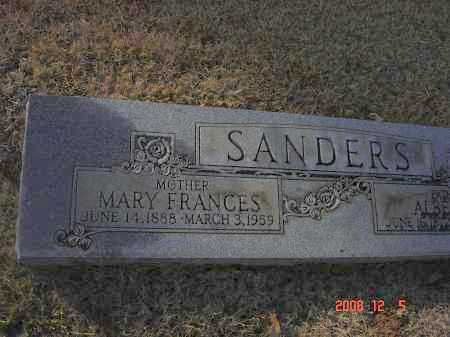 SANDERS, MARY FRANCES - Pulaski County, Arkansas | MARY FRANCES SANDERS - Arkansas Gravestone Photos