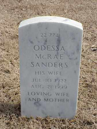 SANDERS, ODESSA - Pulaski County, Arkansas | ODESSA SANDERS - Arkansas Gravestone Photos