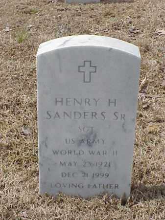 SANDERS, SR (VETERAN  WWII), HENRY H - Pulaski County, Arkansas | HENRY H SANDERS, SR (VETERAN  WWII) - Arkansas Gravestone Photos