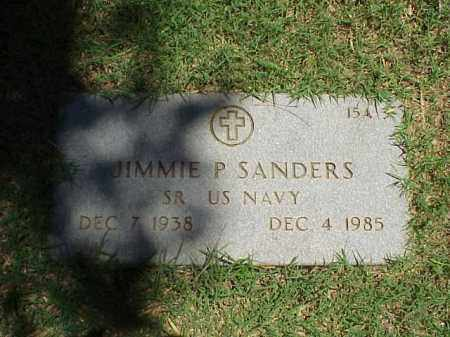 SANDERS (VETERAN), JIMMIE P - Pulaski County, Arkansas | JIMMIE P SANDERS (VETERAN) - Arkansas Gravestone Photos