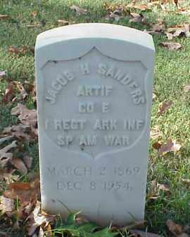 SANDERS (VETERAN SAW), JACOB H - Pulaski County, Arkansas | JACOB H SANDERS (VETERAN SAW) - Arkansas Gravestone Photos