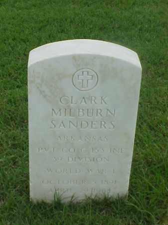SANDERS (VETERAN WWI), CLARK MILBURN - Pulaski County, Arkansas | CLARK MILBURN SANDERS (VETERAN WWI) - Arkansas Gravestone Photos