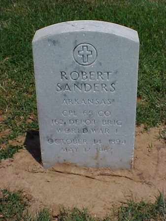 SANDERS (VETERAN WWI), ROBERT - Pulaski County, Arkansas | ROBERT SANDERS (VETERAN WWI) - Arkansas Gravestone Photos