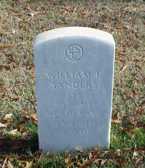 SANDERS (VETERAN WWI), WILLIAM E - Pulaski County, Arkansas | WILLIAM E SANDERS (VETERAN WWI) - Arkansas Gravestone Photos