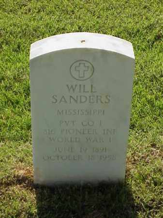 SANDERS (VETERAN WWI), WILL - Pulaski County, Arkansas | WILL SANDERS (VETERAN WWI) - Arkansas Gravestone Photos
