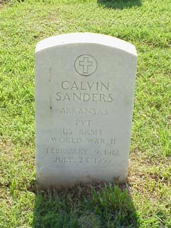 SANDERS (VETERAN WWII), CALVIN - Pulaski County, Arkansas | CALVIN SANDERS (VETERAN WWII) - Arkansas Gravestone Photos