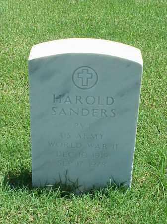 SANDERS (VETERAN WWII), HAROLD - Pulaski County, Arkansas | HAROLD SANDERS (VETERAN WWII) - Arkansas Gravestone Photos