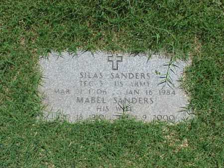 SANDERS (VETERAN WWII), SILAS - Pulaski County, Arkansas | SILAS SANDERS (VETERAN WWII) - Arkansas Gravestone Photos