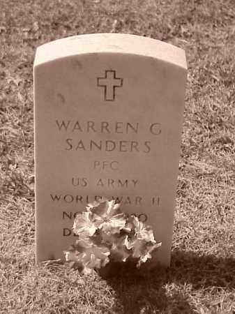 SANDERS (VETERAN WWII), WARREN G - Pulaski County, Arkansas | WARREN G SANDERS (VETERAN WWII) - Arkansas Gravestone Photos