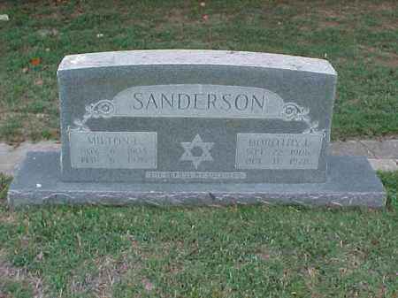 SANDERSON, MILTON E - Pulaski County, Arkansas | MILTON E SANDERSON - Arkansas Gravestone Photos