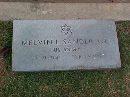 SANDERSON (VETERAN), MELVIN L - Pulaski County, Arkansas | MELVIN L SANDERSON (VETERAN) - Arkansas Gravestone Photos