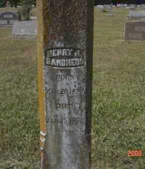 SANDHERR, HENRY - Pulaski County, Arkansas | HENRY SANDHERR - Arkansas Gravestone Photos