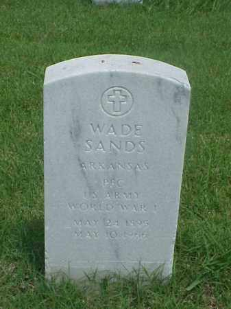 SANDS (VETERAN WWI), WADE - Pulaski County, Arkansas | WADE SANDS (VETERAN WWI) - Arkansas Gravestone Photos