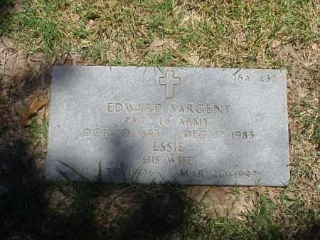 SARGENT (VETERAN WWI), EDWARD - Pulaski County, Arkansas | EDWARD SARGENT (VETERAN WWI) - Arkansas Gravestone Photos