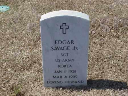 SAVAGE, JR (VETERAN KOR), EDGAR - Pulaski County, Arkansas | EDGAR SAVAGE, JR (VETERAN KOR) - Arkansas Gravestone Photos