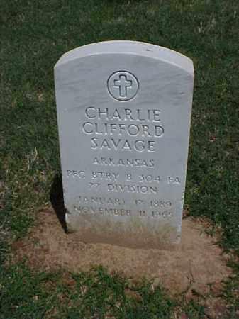 SAVAGE (VETERAN WWI), CHARLIE CLIFFORD - Pulaski County, Arkansas | CHARLIE CLIFFORD SAVAGE (VETERAN WWI) - Arkansas Gravestone Photos