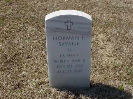 SAVAGE (VETERAN WWII), NORMAN E - Pulaski County, Arkansas | NORMAN E SAVAGE (VETERAN WWII) - Arkansas Gravestone Photos
