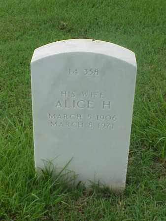 SAWYER, ALICE H - Pulaski County, Arkansas | ALICE H SAWYER - Arkansas Gravestone Photos