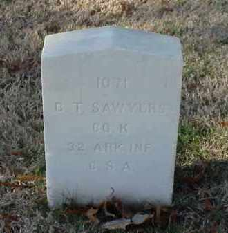 SAWYERS (VETERAN CSA), G T - Pulaski County, Arkansas | G T SAWYERS (VETERAN CSA) - Arkansas Gravestone Photos
