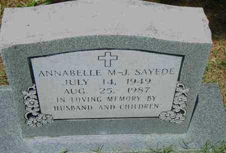 SAYEDE, ANNABELLE M-J - Pulaski County, Arkansas | ANNABELLE M-J SAYEDE - Arkansas Gravestone Photos