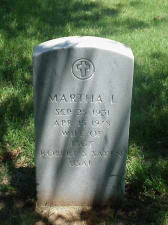 SAYEN, MARTHA L - Pulaski County, Arkansas | MARTHA L SAYEN - Arkansas Gravestone Photos