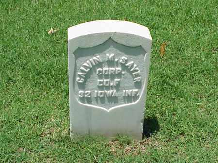 SAYER (VETERAN UNION), CALVIN M - Pulaski County, Arkansas | CALVIN M SAYER (VETERAN UNION) - Arkansas Gravestone Photos