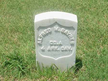 SAYRES (VETERAN UNION), ALFRED M - Pulaski County, Arkansas | ALFRED M SAYRES (VETERAN UNION) - Arkansas Gravestone Photos